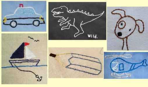 男の子の刺繍図案