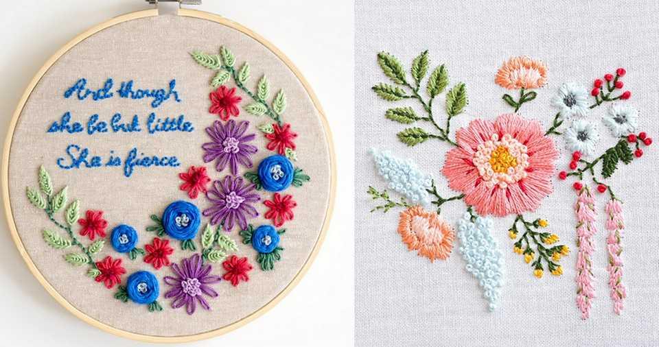 無料の刺繍図案