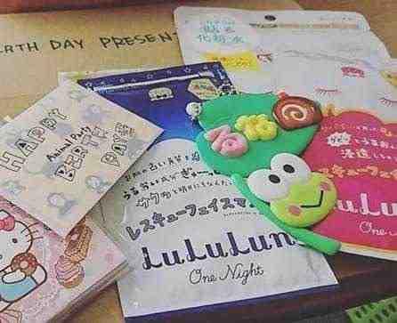 女友達の誕生日プレゼント フェイスパックや手紙