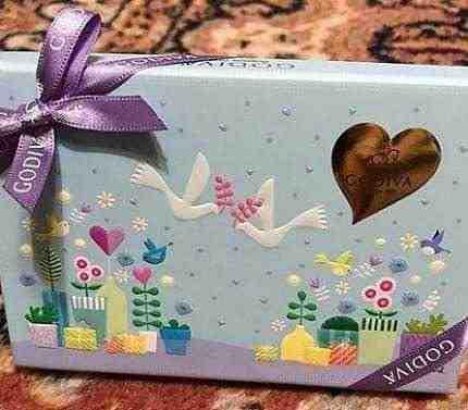 女友達の誕生日プレゼント ゴディバのチョコ